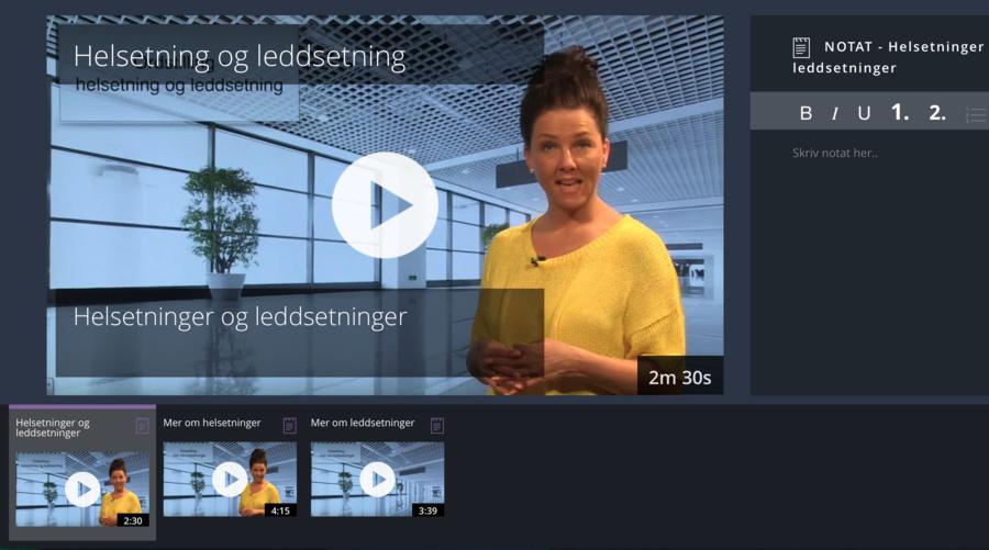 Undervisningsvideo i faget norsk for språklige minoriteter